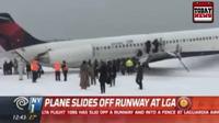 Máy bay chở 125 hành khách lao khỏi đường băng tại sân bay New York