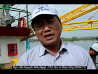 Ngư dân Nguyễn Hữu Ngọt - Chủ tàu QNg 95868-TS chia sẻ