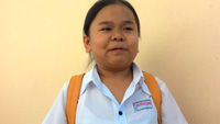 Nữ thí sinh cao hơn 1 mét chia sẻ việc học tập