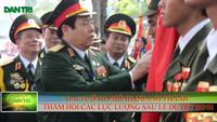 Đại tướng Phùng Quang Thanh - Bộ Trưởng Bộ Quốc phòng động viên các chiến sĩ sau buổi tổng duyệt diễu binh