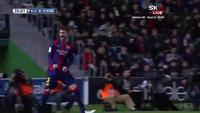 Pique mở tỉ số cho Barca trước Elche