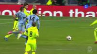 Aguero ghi bàn danh dự cho Man City trước Barca