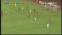 Hong Kum Song gỡ hòa 1-1 cho Triều Tiên trước Việt Nam