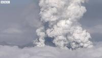Nhật: Núi lửa bất ngờ phun trào dữ dội
