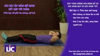 Bài tập giảm mỡ bụng kết hợp với thảm, có thể tự tập ở nhà