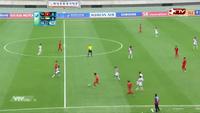 Minh Tuấn bỏ lỡ cơ hội đáng tiếc ở phút thứ 7