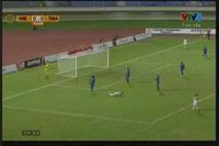 Quang Hải đưa bóng đập cột dọc khung thành U19 Thái Lan