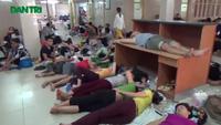 Hà Nội: Bệnh nhân vật vã chui gầm câu thang trốn nắng 40 độ