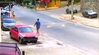 Lật xe vì không chú ý gờ giảm tốc