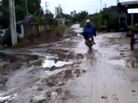 Đường làm khổ dân ở Cà Mau