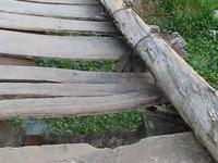 Nỗi sợ qua cầu ván cũ của học sinh Bạc Liêu