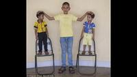 Video về cậu bé Karan với chiều cao vượt trội của mình