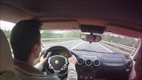 Thót tim khoảnh khắc khách hàng suýt gây tai nạn khi lái thử Ferrari F430