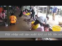 Đột nhập làng khô cá sặc bổi ở xã An Khánh, huyện An Phú, An Giang.