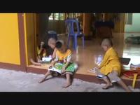 Thăm lại các bé họ Nhân ở chùa Long An.