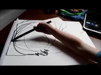 Nữ họa sĩ xinh đẹp dựng hình điêu luyện từ nét vẽ của con