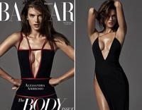 Siêu mẫu Alessandra Ambrosio diện váy xẻ cao không nội y