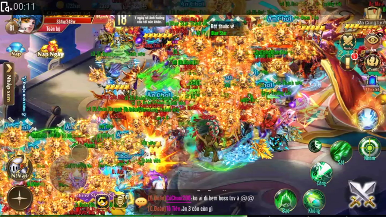 Không thể ngờ game MMORPG trên mobile ở Việt Nam lại có thể đông như thế này!