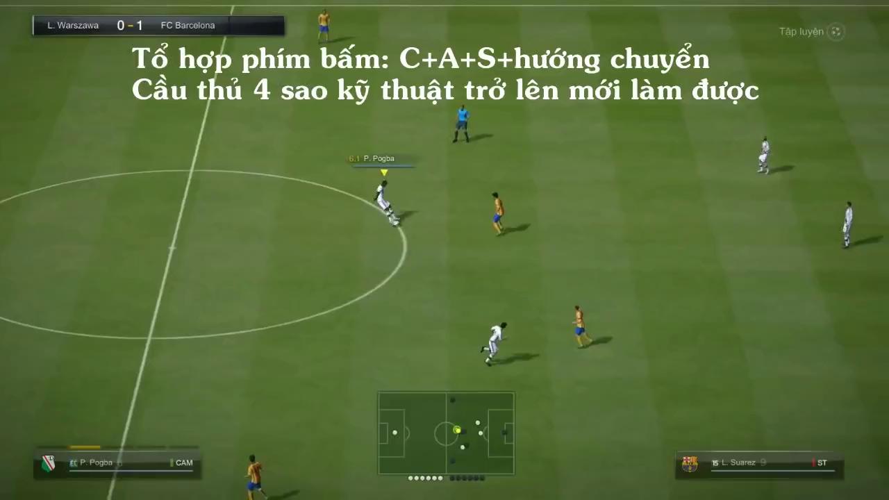 Làm thế nào thực hiện kĩ thuật Ronaldo chop 'điệu' như CR7 trong FIFA Online 3?