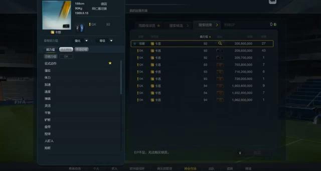 FIFA Online 3 - Giá bán chi tiết các thẻ Chinese EuroleagueLegend