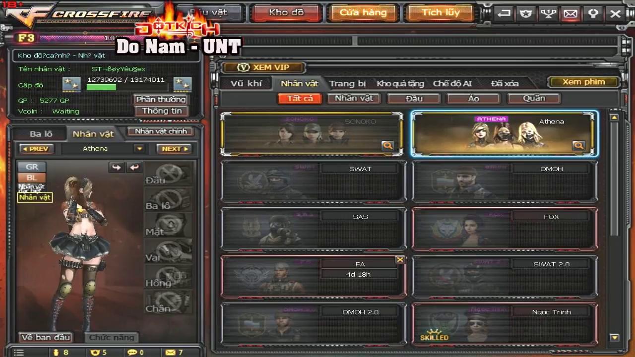 """Nhân vật Athena quá """"VIP"""", nhiều game thủ chơi Zombie bị kick """"oan"""" vì chơi Y tá và Cương Thi"""