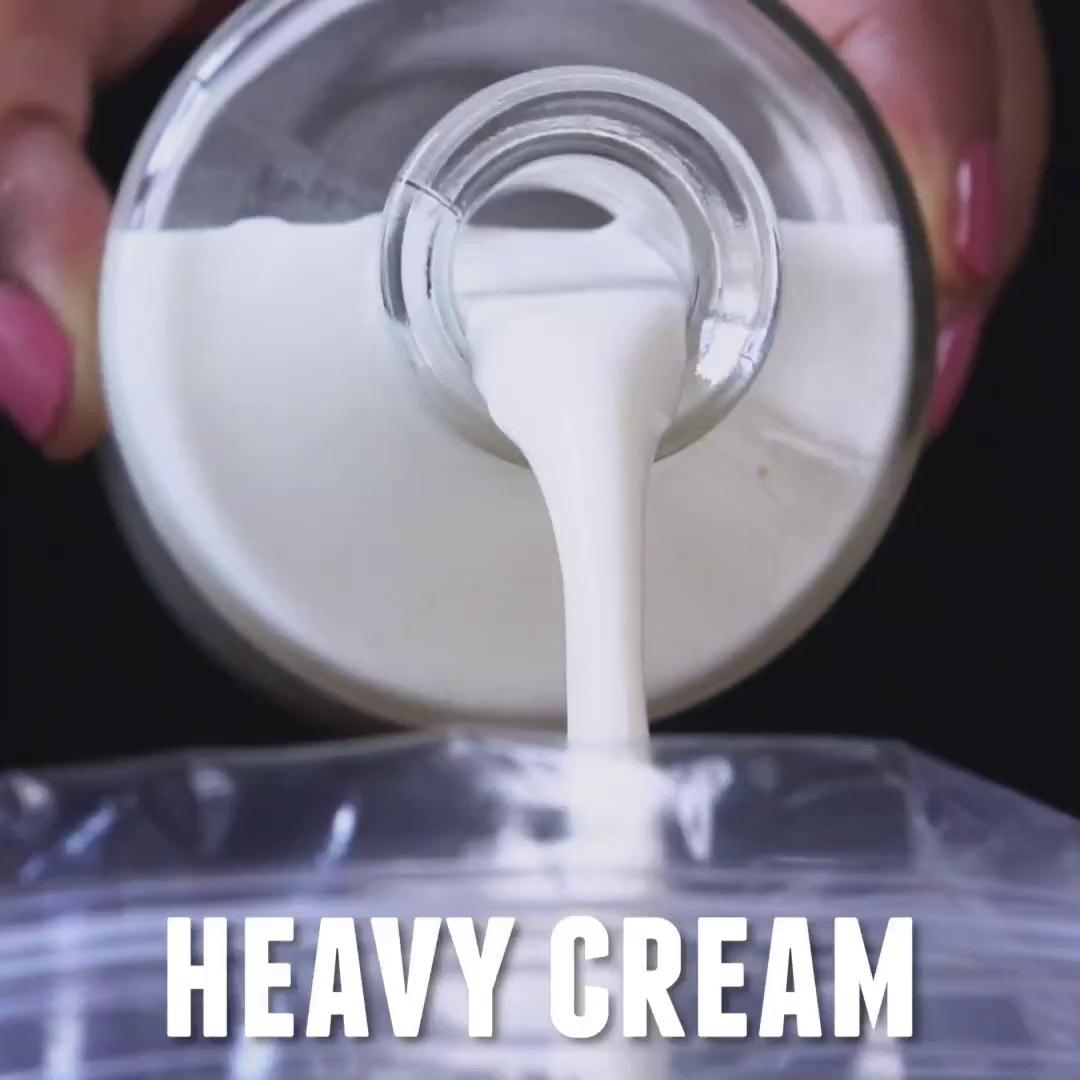 Cách làm kem siêu tốc bằng túi ny lông - VIDEO - 154149