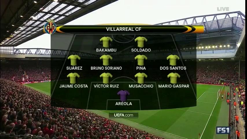 Europa League 2015/16: Liverpool 3-0 Villarreal