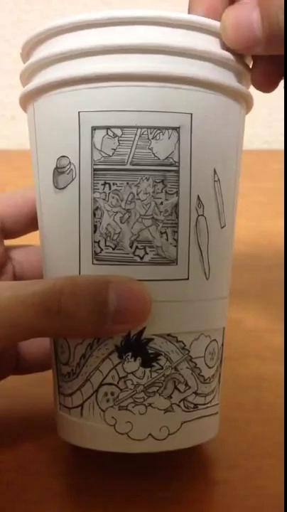 Cốc giấy manga 7 viên ngọc rồng