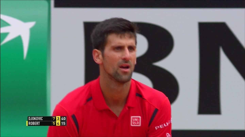 "Clip Djokovic vất vả, sao nữ ""rụng"" sớm ở Rome Open"