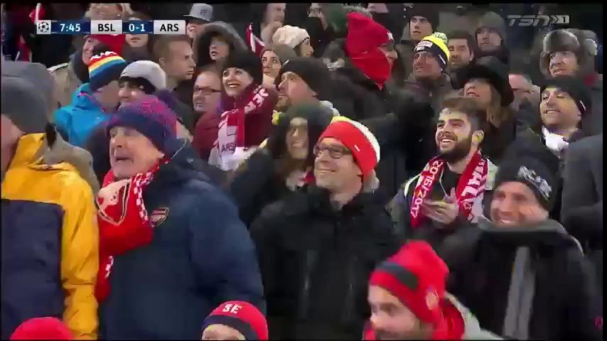 Champions League: Basel 1-4 Arsenal