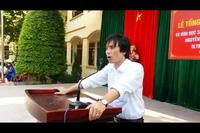 Thầy Trần Văn Nga - báo cáo thành tích về kỳ thi Olympic Châu Á