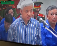 """""""Bầu"""" Kiên nói về mối tình 10 năm với Trần Đình Long tại phiên toà sáng nay"""