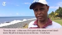 """""""Ghế máy bay trôi dạt lên đảo Reunion 3 tháng trước"""""""