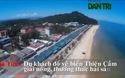 """Hà Tĩnh: Du khách đổ về biển Thiên Cầm """"giải"""" nóng, thưởng thức hải sản"""