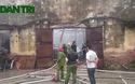 Cháy lớn trong khuôn viên Trung tâm khí tượng thủy văn quốc gia