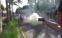 """Làm cháy siêu xe Lamborghini Aventador đi """"mượn"""""""