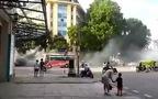 CĐV bóng đá Hải Phòng náo loạn đường phố Hà Nôi