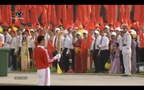 Màn đốt đuốc và diễn văn khai mạc lễ diễu binh 70 năm quốc khánh