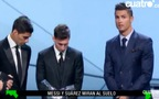 Messi bị phát hiện cười đểu Ronaldo