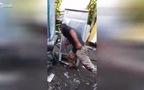 Người đàn ông say rượu đòi đánh nhau với... tủ lạnh