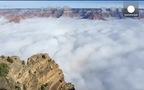 Hiện tượng mây đảo ngược hiếm gặp ở Mỹ