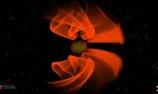 Mô phỏng sóng hấp dẫn phát ra khi hai hố đen va chạm nhau