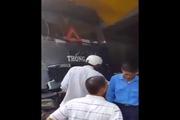 Hiện trường Ôtô tải không người lái lao dốc đè bẹp nhiều xe máy tại Lào Cai