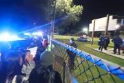 Hiện trường vụ xả súng vào đám đông ở Mỹ