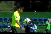 """Neymar âm thầm luyện """"skill"""" mới cho kỳ World Cup 2014"""