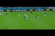 Pha thể hiện kỹ thuật trong màu áo tuyển Argentina của Marcos Rojo