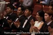 Lee Jong Suk lên nhận giải Nam diễn viên xuất sắc nhất tại Giải thưởng truyền hình Hàn
