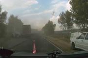Container phanh cháy lốp tránh tai nạn kinh hoàng