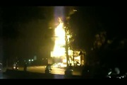Xe bồn chở xăng cháy dữ dội ở Hải Phòng
