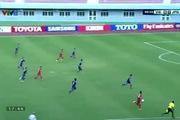 Thanh Tùng cân bằng tỉ số 1-1 cho U19 Việt Nam